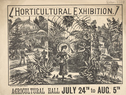 Advert for a Horticultural Exhibition at the Agricultural Hall